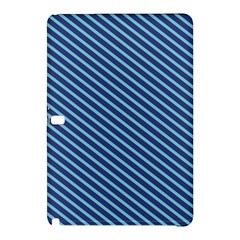 Striped  Line Blue Samsung Galaxy Tab Pro 10 1 Hardshell Case by Mariart