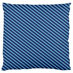 Striped  Line Blue Standard Flano Cushion Case (one Side) by Mariart
