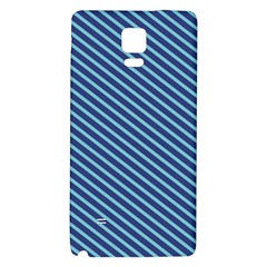 Striped  Line Blue Galaxy Note 4 Back Case by Mariart