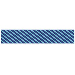 Striped  Line Blue Flano Scarf (large) by Mariart