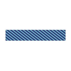 Striped  Line Blue Flano Scarf (mini) by Mariart