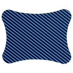 Striped  Line Blue Jigsaw Puzzle Photo Stand (bow)