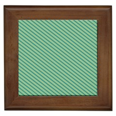 Striped Green Framed Tiles by Mariart