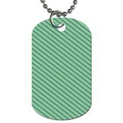 Striped Green Dog Tag (two Sides) by Mariart