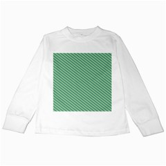 Striped Green Kids Long Sleeve T Shirts by Mariart