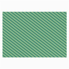Striped Green Large Glasses Cloth (2 Side) by Mariart