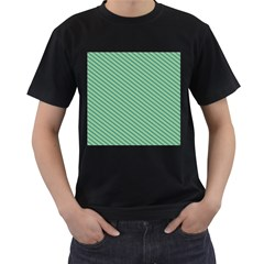 Striped Green Men s T Shirt (black)
