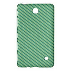 Striped Green Samsung Galaxy Tab 4 (8 ) Hardshell Case  by Mariart