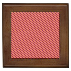 Striped Purple Orange Framed Tiles by Mariart