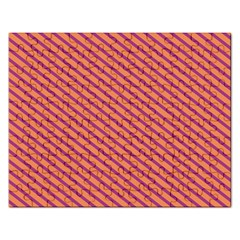 Striped Purple Orange Rectangular Jigsaw Puzzl by Mariart