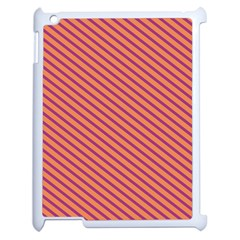 Striped Purple Orange Apple Ipad 2 Case (white) by Mariart