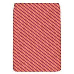 Striped Purple Orange Flap Covers (l)  by Mariart