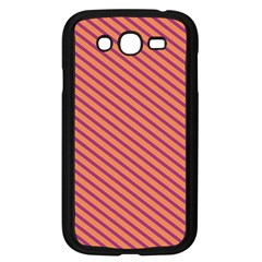Striped Purple Orange Samsung Galaxy Grand Duos I9082 Case (black) by Mariart