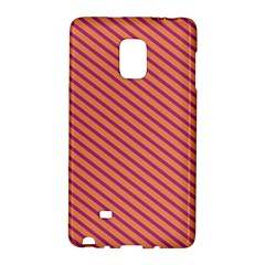 Striped Purple Orange Galaxy Note Edge by Mariart