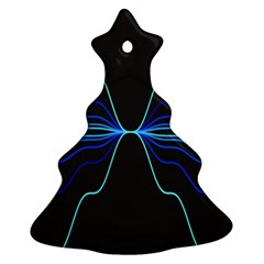 Sine Squared Line Blue Black Light Ornament (christmas Tree)  by Mariart