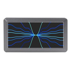 Sine Squared Line Blue Black Light Memory Card Reader (mini) by Mariart