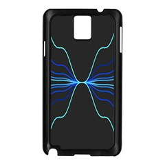 Sine Squared Line Blue Black Light Samsung Galaxy Note 3 N9005 Case (black) by Mariart