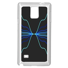 Sine Squared Line Blue Black Light Samsung Galaxy Note 4 Case (white) by Mariart