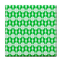 Sign Green A Tile Coasters by Mariart