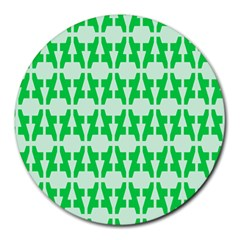 Sign Green A Round Mousepads by Mariart