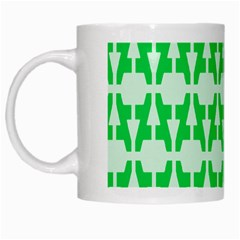 Sign Green A White Mugs by Mariart