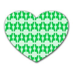 Sign Green A Heart Mousepads by Mariart