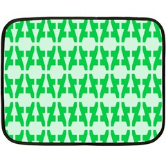 Sign Green A Fleece Blanket (mini) by Mariart