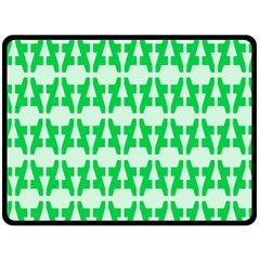 Sign Green A Fleece Blanket (large)  by Mariart