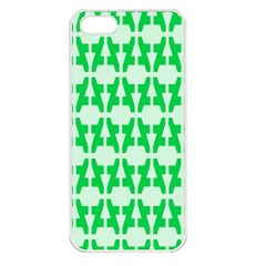 Sign Green A Apple Iphone 5 Seamless Case (white) by Mariart