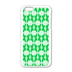 Sign Green A Apple Iphone 6/6s White Enamel Case by Mariart