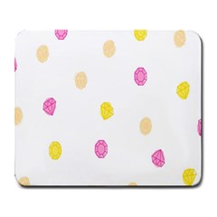 Stone Diamond Yellow Pink Brown Large Mousepads by Mariart