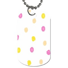 Stone Diamond Yellow Pink Brown Dog Tag (two Sides) by Mariart