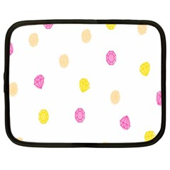 Stone Diamond Yellow Pink Brown Netbook Case (large) by Mariart