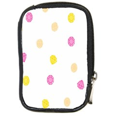 Stone Diamond Yellow Pink Brown Compact Camera Cases by Mariart