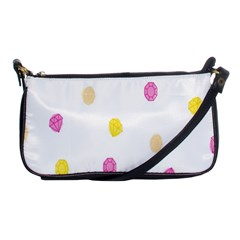 Stone Diamond Yellow Pink Brown Shoulder Clutch Bags by Mariart
