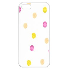 Stone Diamond Yellow Pink Brown Apple Iphone 5 Seamless Case (white) by Mariart