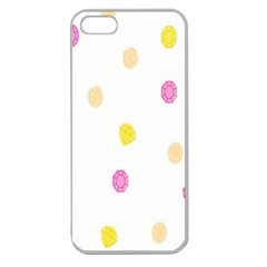 Stone Diamond Yellow Pink Brown Apple Seamless Iphone 5 Case (clear) by Mariart