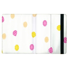 Stone Diamond Yellow Pink Brown Apple Ipad 2 Flip Case by Mariart