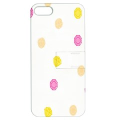 Stone Diamond Yellow Pink Brown Apple Iphone 5 Hardshell Case With Stand by Mariart