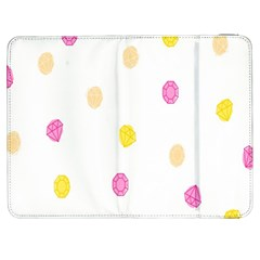Stone Diamond Yellow Pink Brown Samsung Galaxy Tab 7  P1000 Flip Case by Mariart