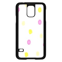 Stone Diamond Yellow Pink Brown Samsung Galaxy S5 Case (black) by Mariart