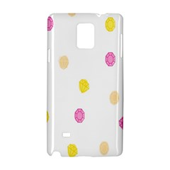 Stone Diamond Yellow Pink Brown Samsung Galaxy Note 4 Hardshell Case by Mariart