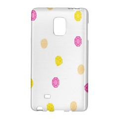 Stone Diamond Yellow Pink Brown Galaxy Note Edge by Mariart