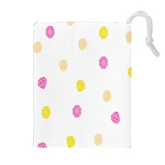Stone Diamond Yellow Pink Brown Drawstring Pouches (extra Large) by Mariart