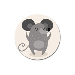 Tooth Bigstock Cute Cartoon Mouse Grey Animals Pest Magnet 3  (round) by Mariart