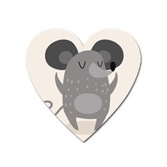 Tooth Bigstock Cute Cartoon Mouse Grey Animals Pest Heart Magnet by Mariart