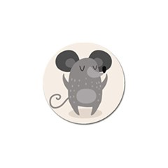 Tooth Bigstock Cute Cartoon Mouse Grey Animals Pest Golf Ball Marker (4 Pack) by Mariart