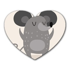Tooth Bigstock Cute Cartoon Mouse Grey Animals Pest Heart Mousepads by Mariart
