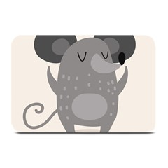 Tooth Bigstock Cute Cartoon Mouse Grey Animals Pest Plate Mats by Mariart