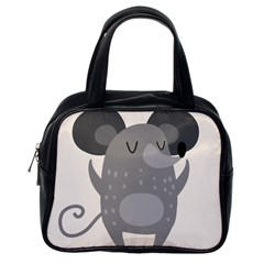 Tooth Bigstock Cute Cartoon Mouse Grey Animals Pest Classic Handbags (one Side) by Mariart